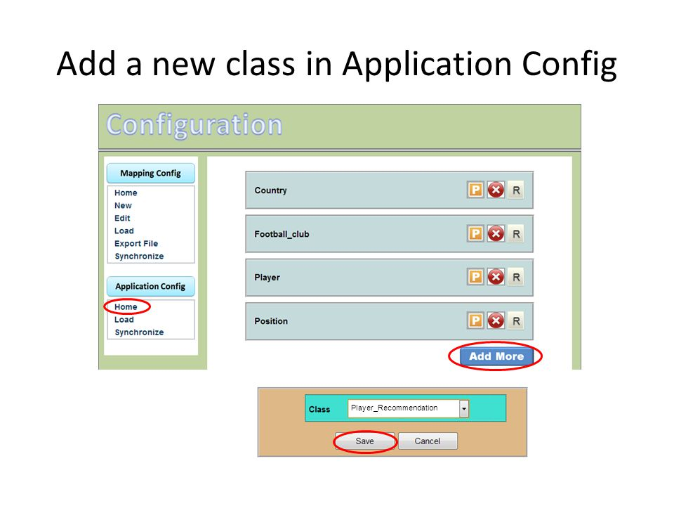 Add a new class in Application Config
