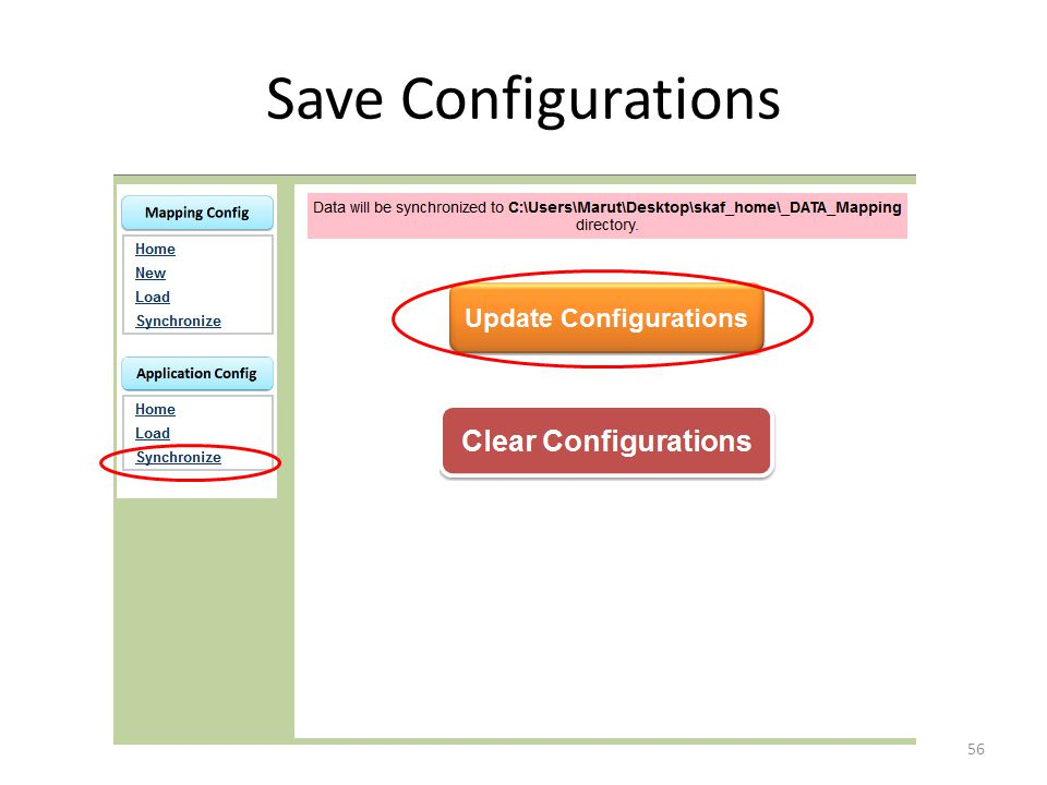Save Configurations