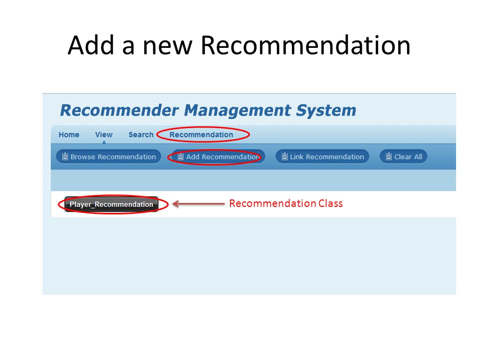 Add a new Recommendation