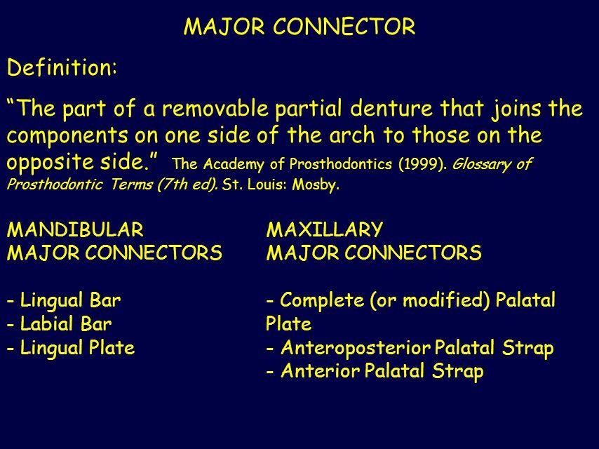 MAJOR CONNECTOR Definition: