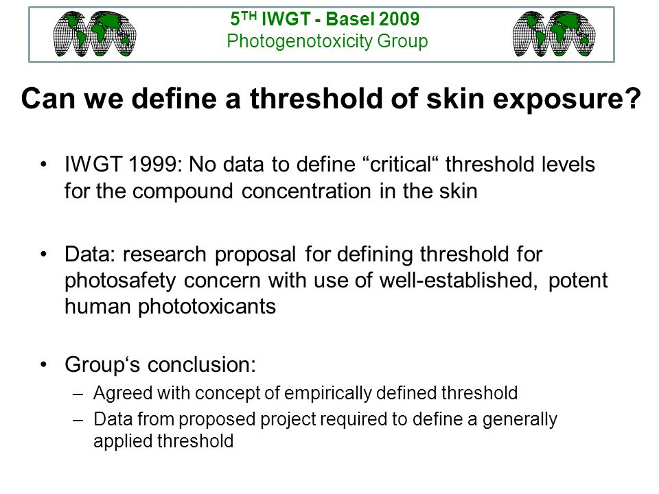 Can we define a threshold of skin exposure