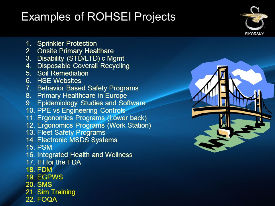 Examples of ROHSEI Projects