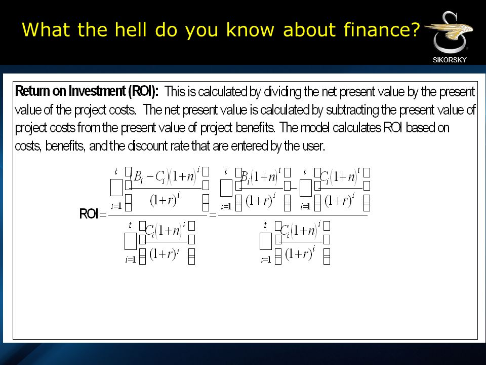 What the hell do you know about finance