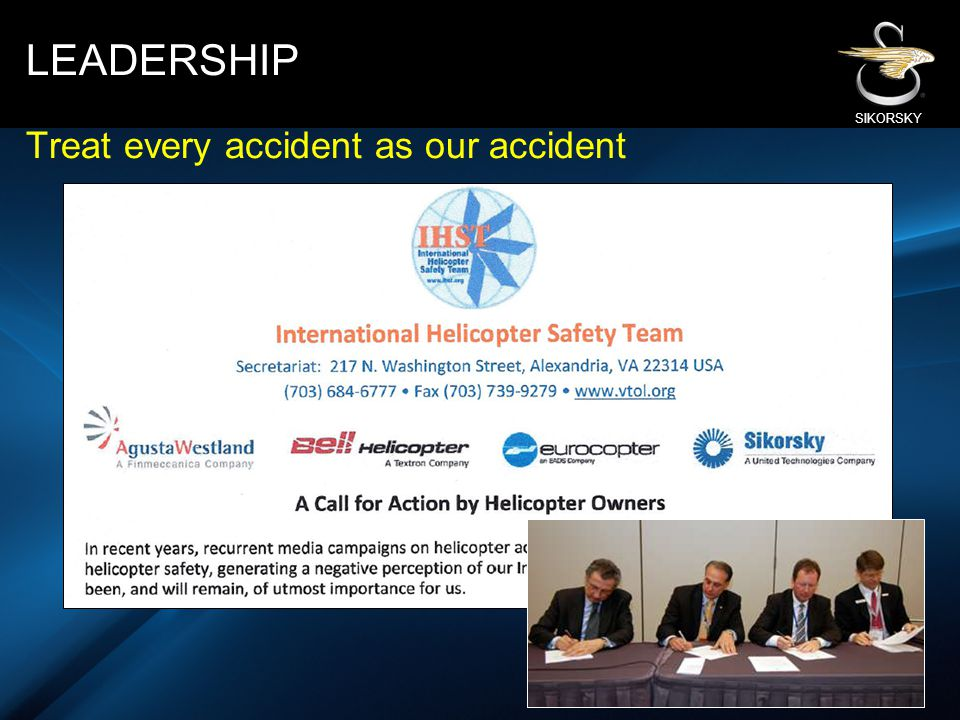 LEADERSHIP Treat every accident as our accident