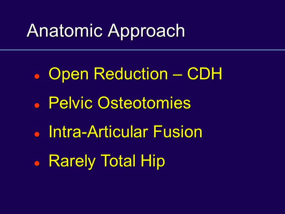 Anatomic Approach Open Reduction – CDH Pelvic Osteotomies