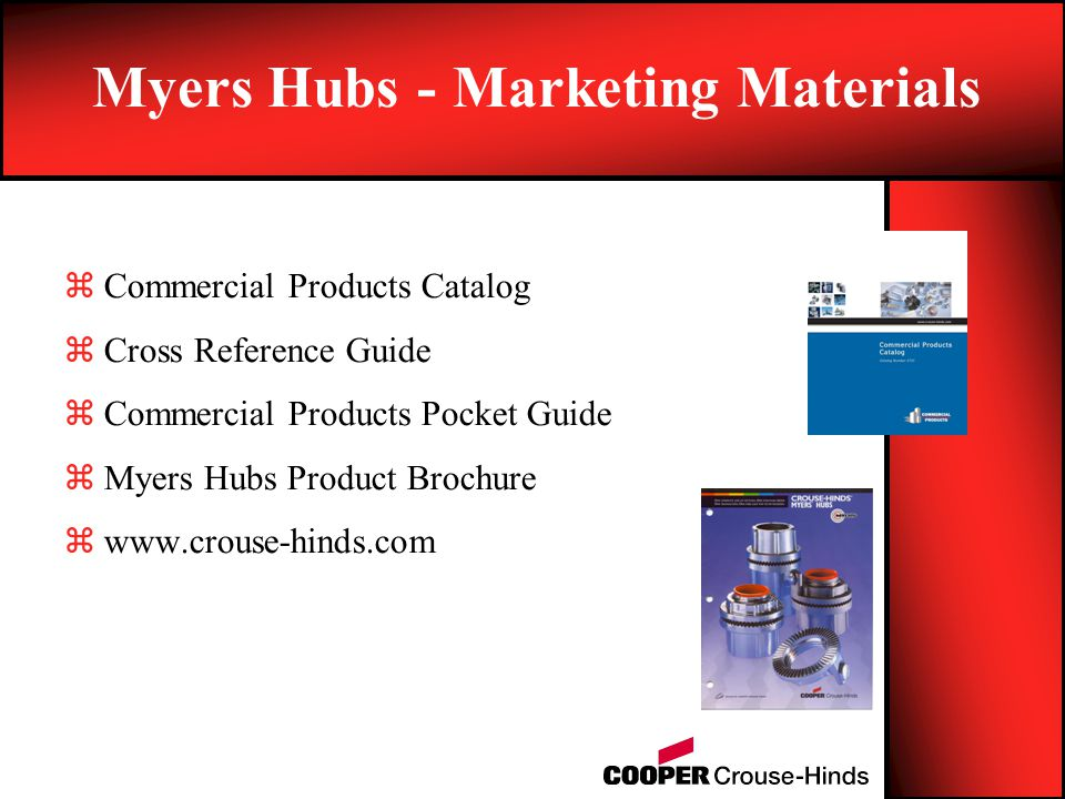 Myers Hubs - Marketing Materials