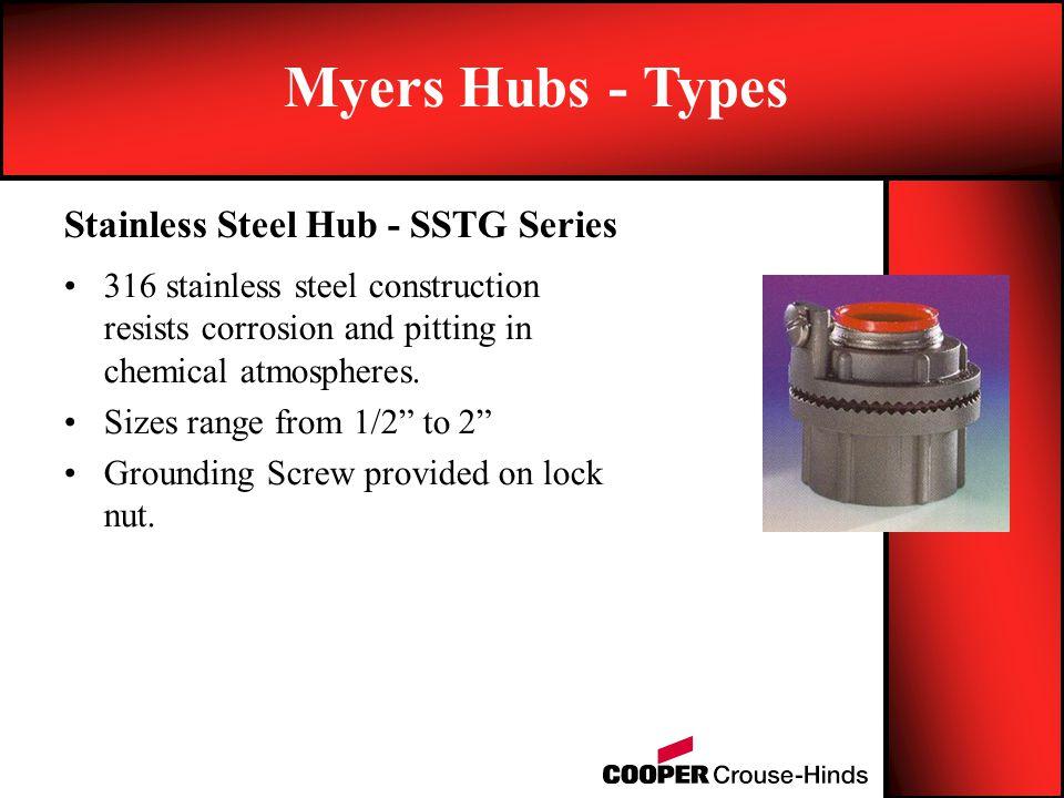 Myers Hubs - Types Stainless Steel Hub - SSTG Series