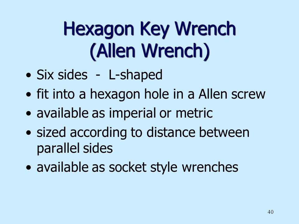 Hexagon Key Wrench (Allen Wrench)