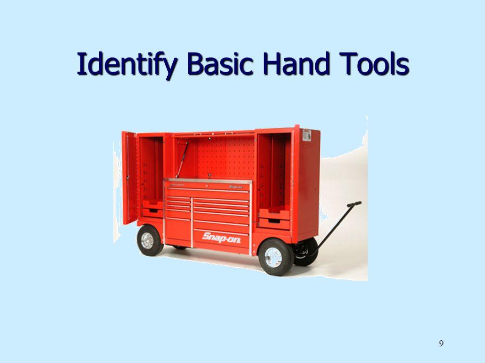 Identify Basic Hand Tools