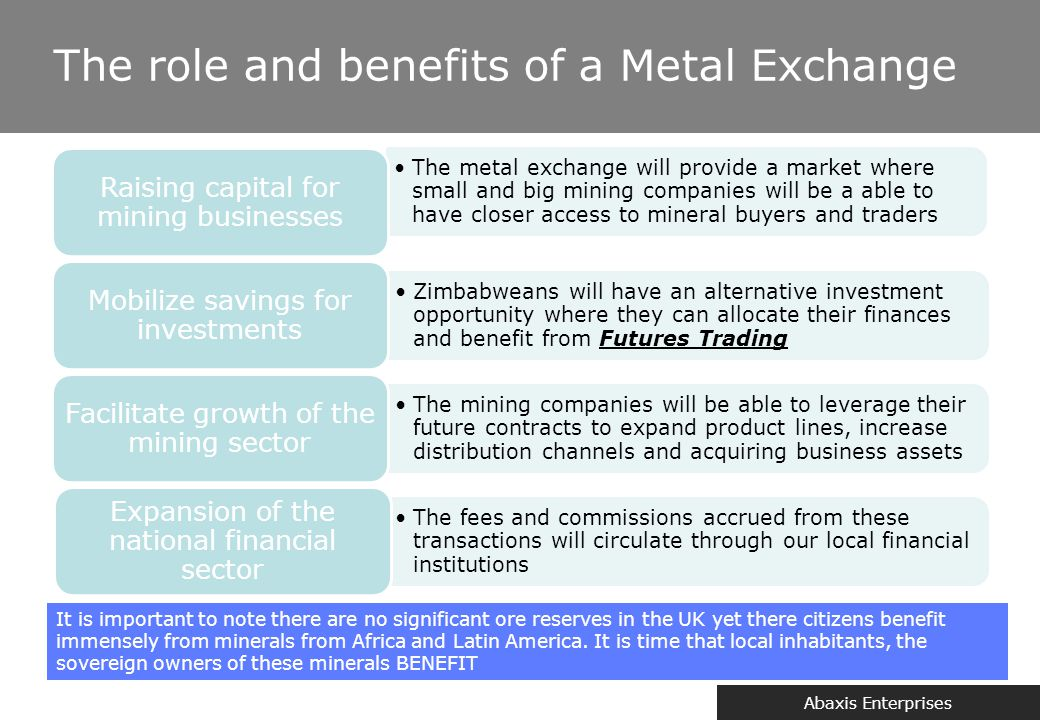 Why Harare should establish a metal exchange