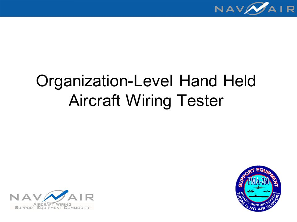 Organization-Level Hand Held Aircraft Wiring Tester