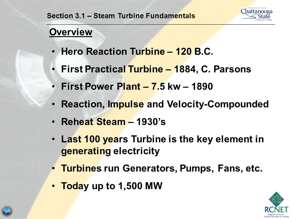 Hero Reaction Turbine – 120 B.C.