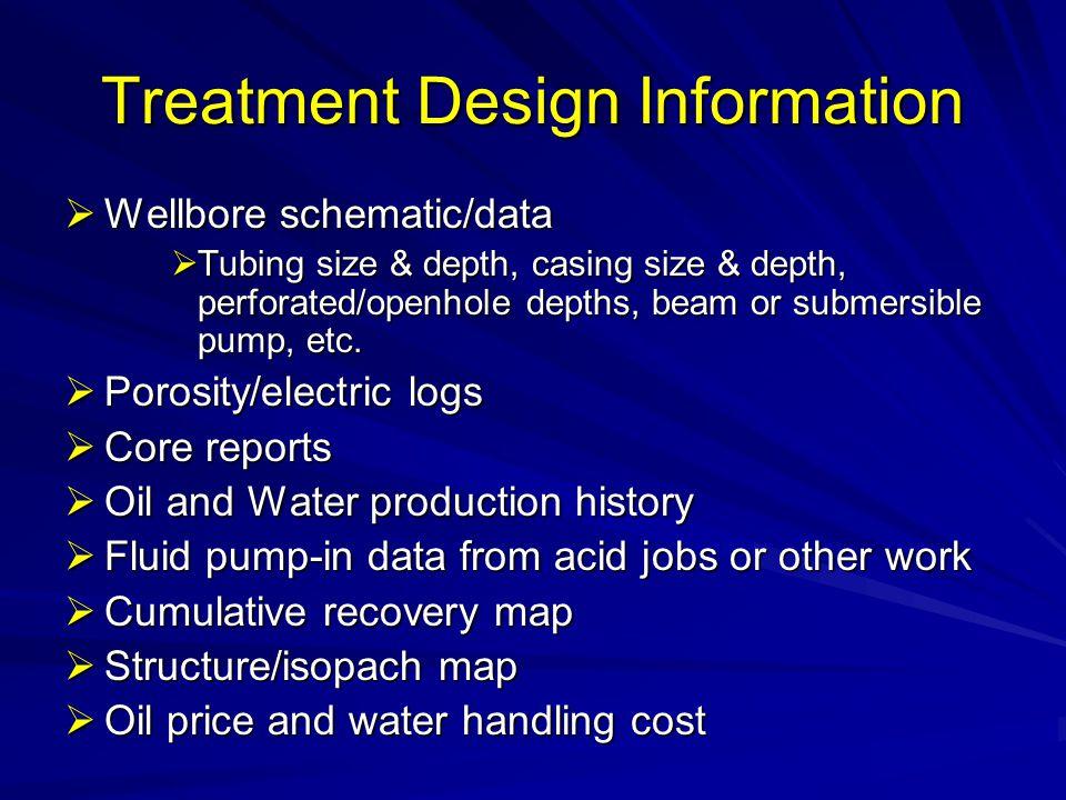 Treatment Design Information