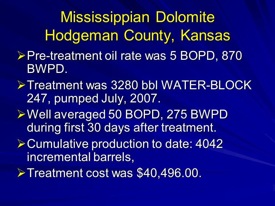 Mississippian Dolomite Hodgeman County, Kansas