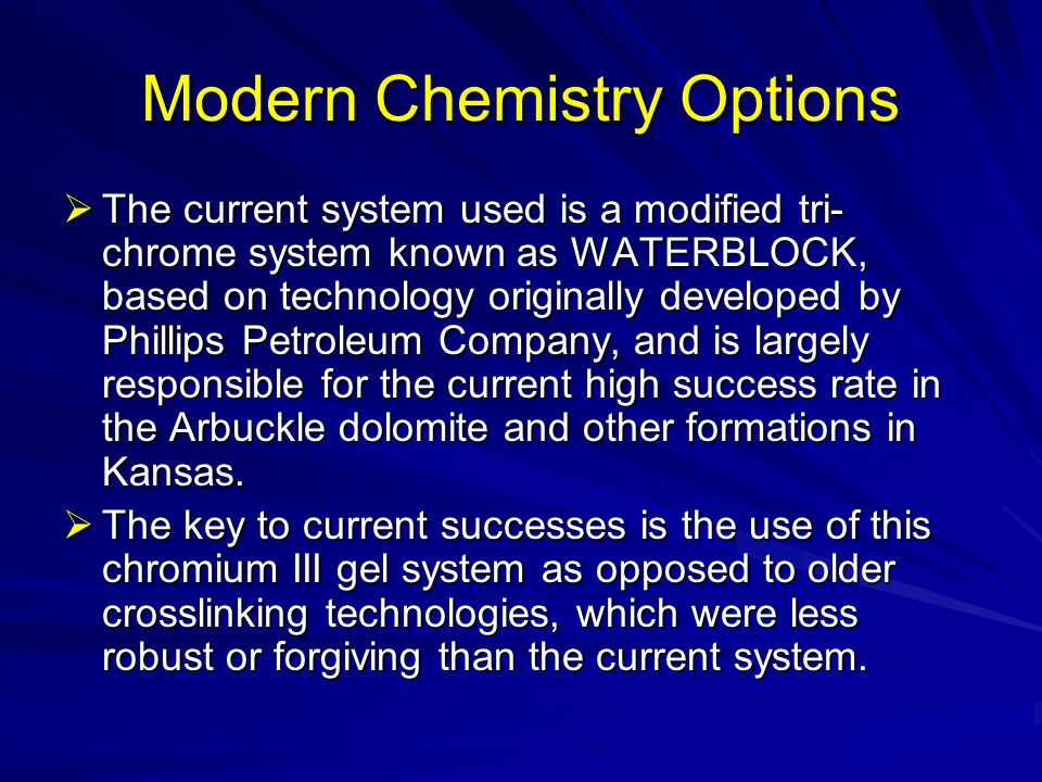 Modern Chemistry Options