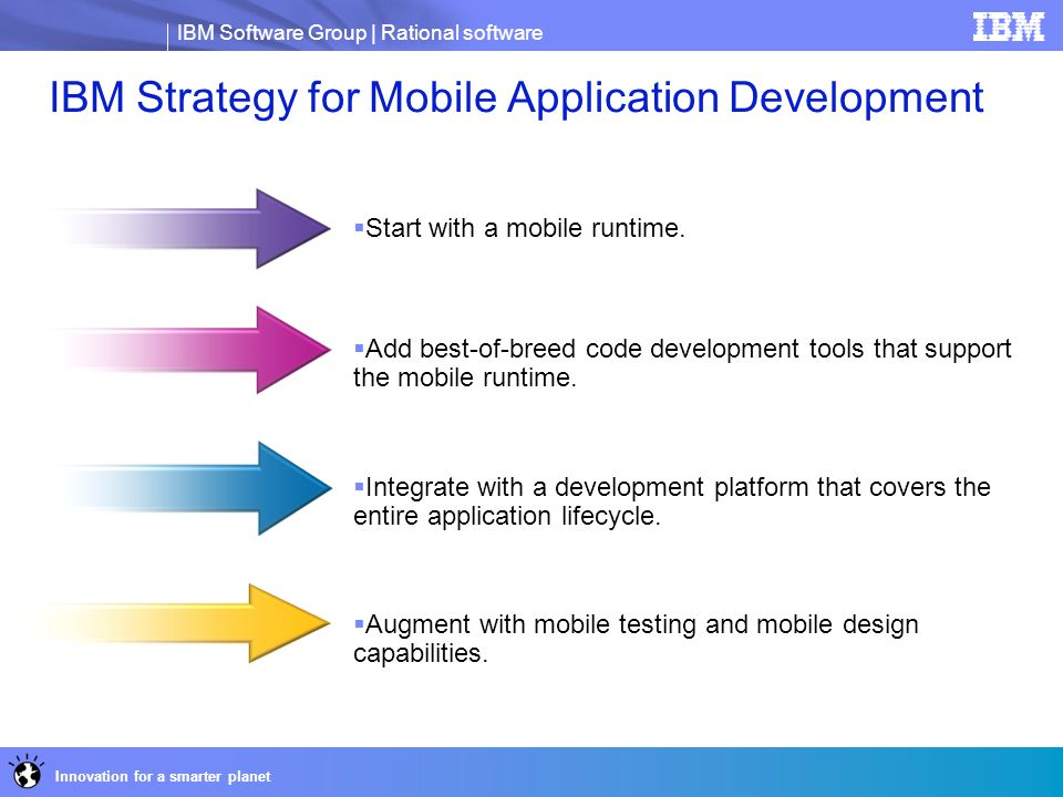 IBM Strategy for Mobile Application Development