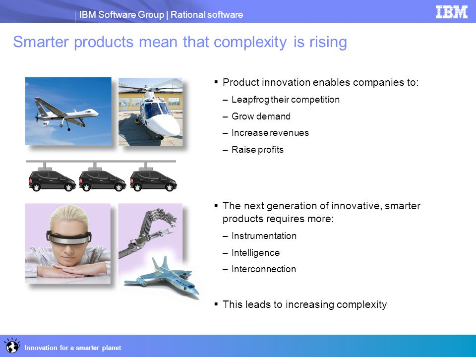 Smarter products mean that complexity is rising
