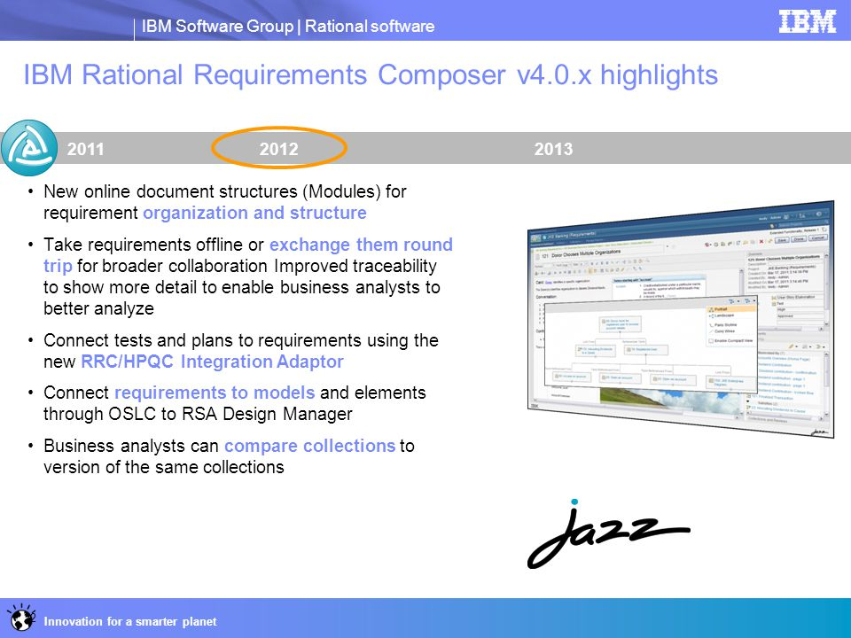 IBM Rational Requirements Composer v4.0.x highlights