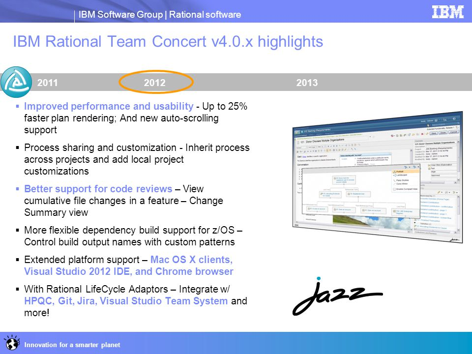 IBM Rational Team Concert v4.0.x highlights