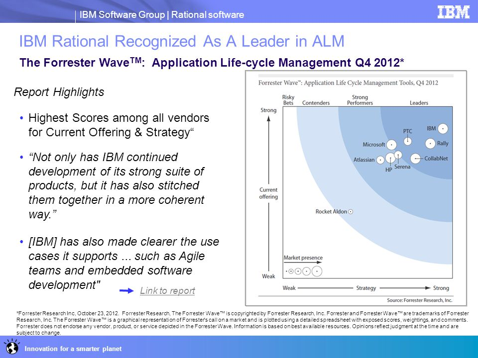 IBM Rational Recognized As A Leader in ALM