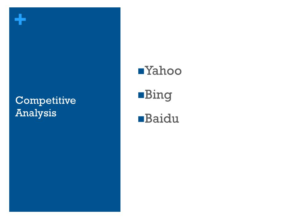 Yahoo Bing Baidu Competitive Analysis