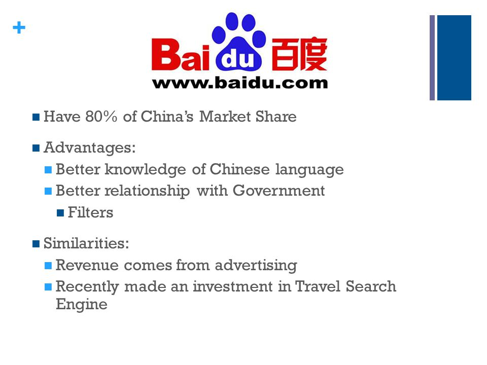 Have 80% of China's Market Share
