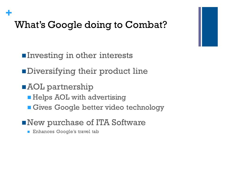 What's Google doing to Combat