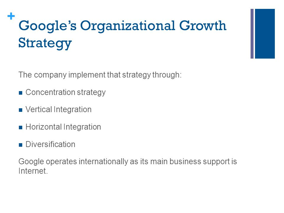 Google's Organizational Growth Strategy