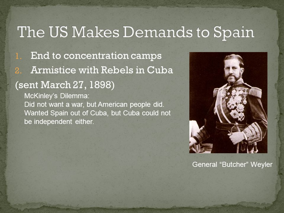 The US Makes Demands to Spain