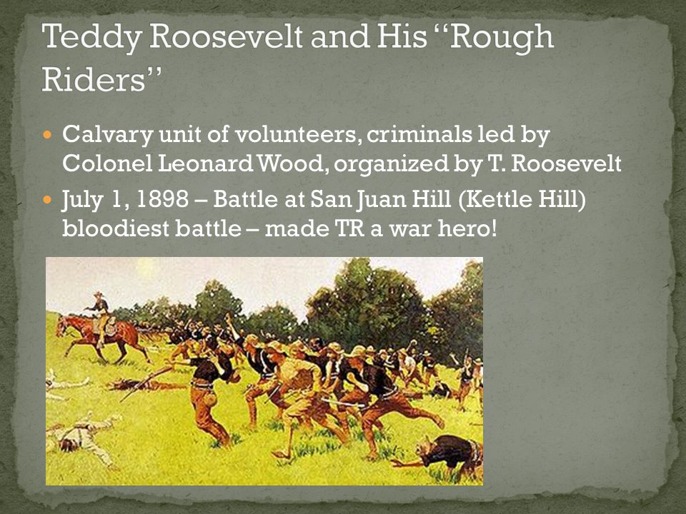 Teddy Roosevelt and His Rough Riders