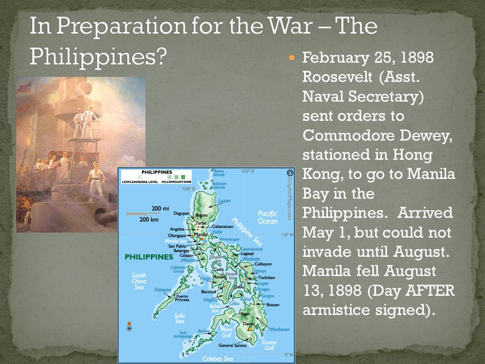 In Preparation for the War – The Philippines