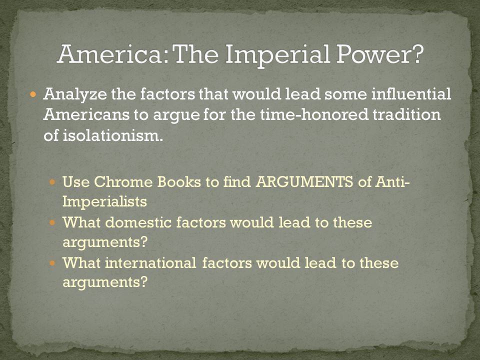 America: The Imperial Power
