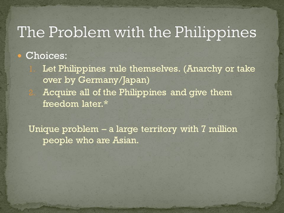 The Problem with the Philippines