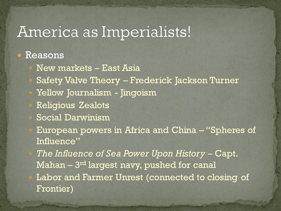 America as Imperialists!