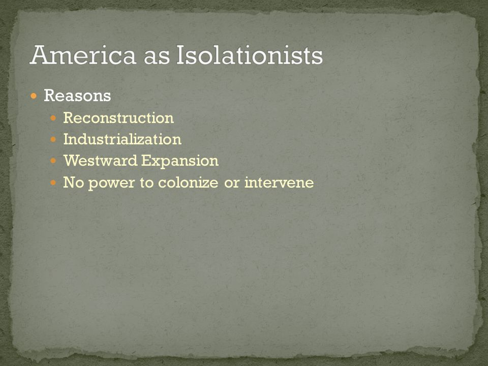 America as Isolationists