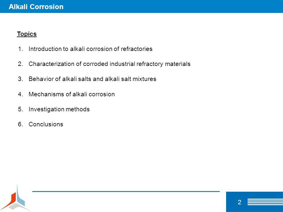 Alkali Corrosion Topics