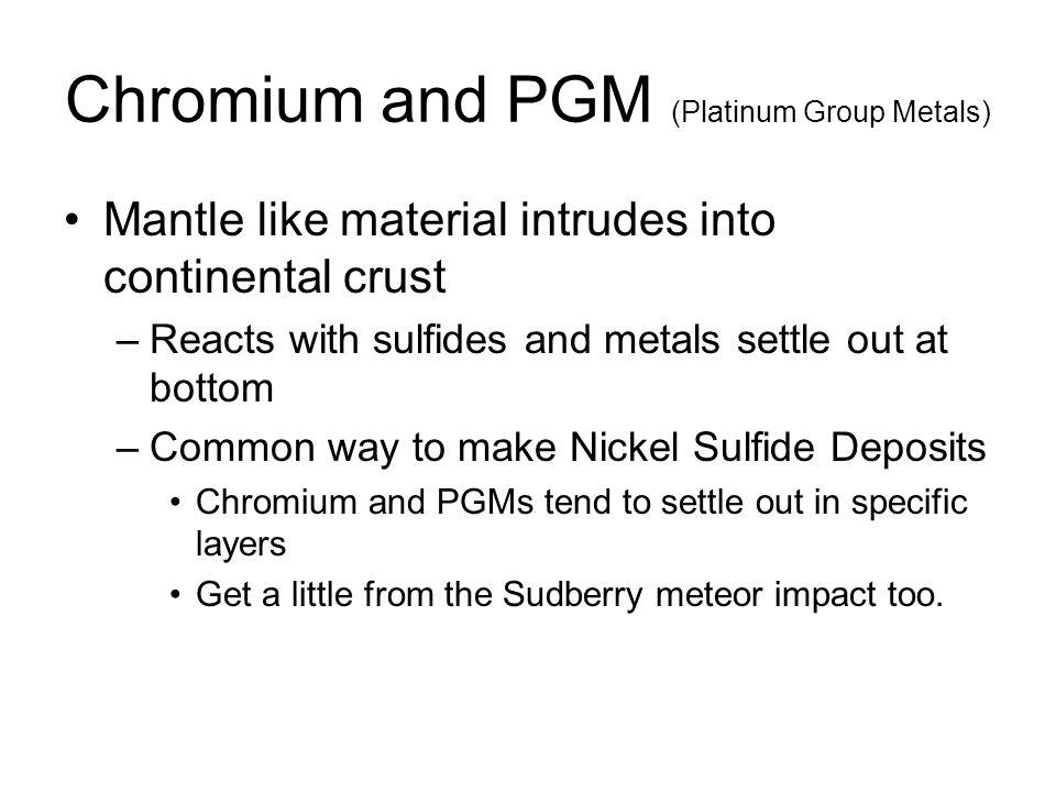Chromium and PGM (Platinum Group Metals)
