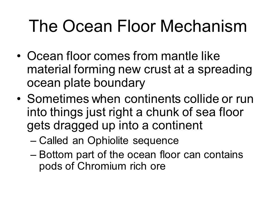 The Ocean Floor Mechanism