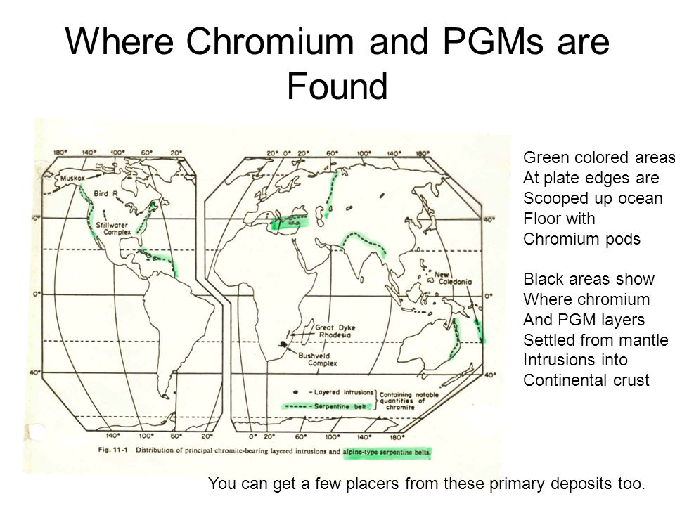 Where Chromium and PGMs are Found