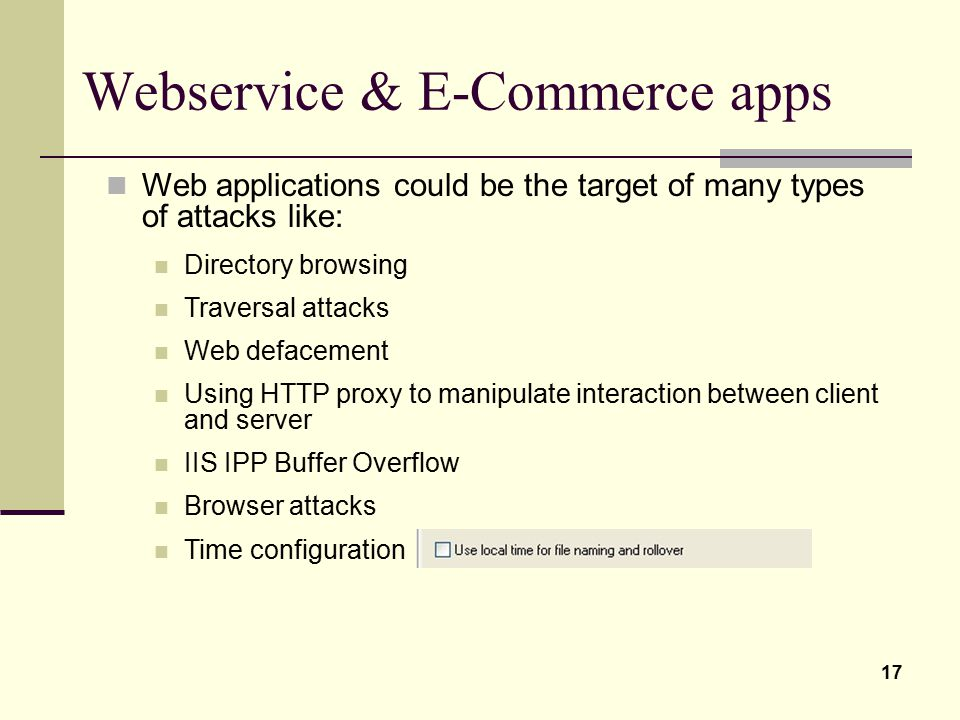 Webservice & E-Commerce apps