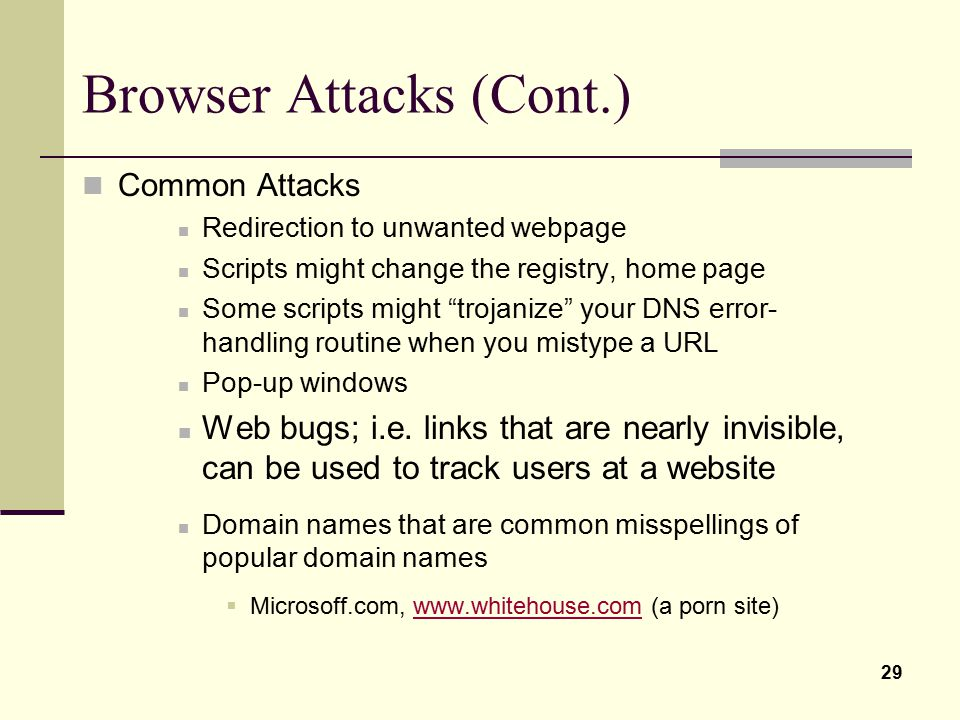 Browser Attacks (Cont.)