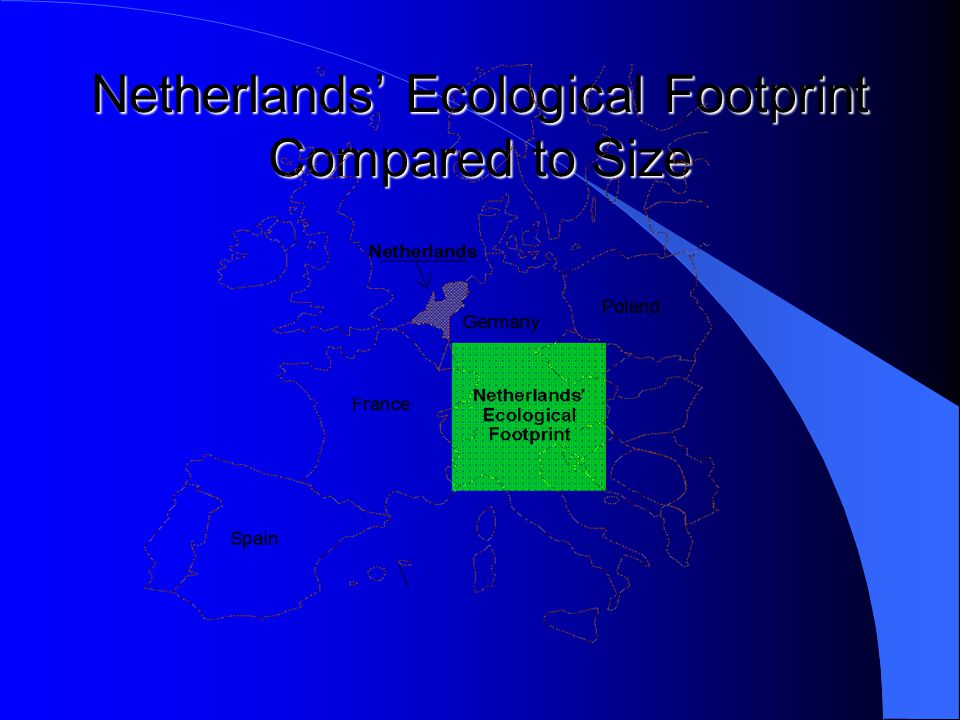 Netherlands' Ecological Footprint Compared to Size