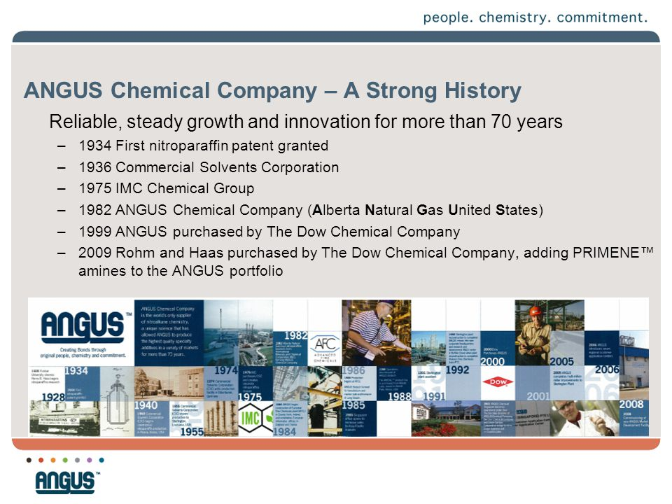 ANGUS Chemical Company – A Strong History