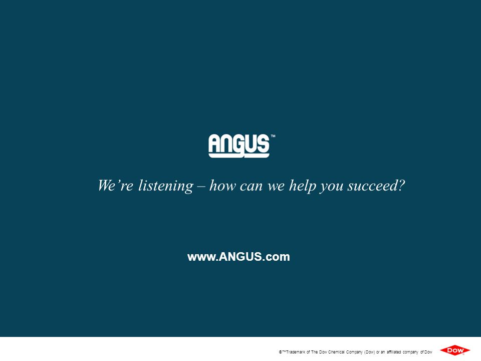 We're listening – how can we help you succeed