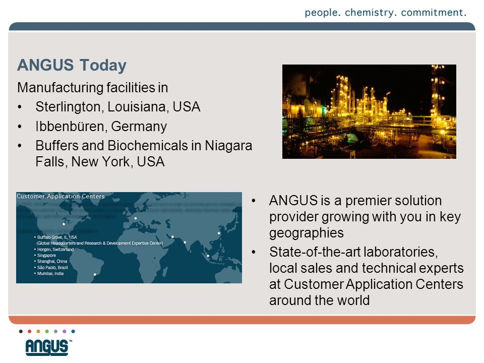 ANGUS Today Manufacturing facilities in Sterlington, Louisiana, USA