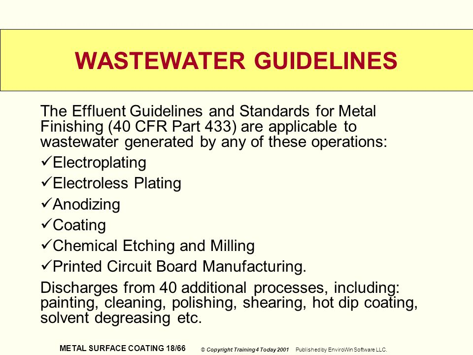 WASTEWATER GUIDELINES