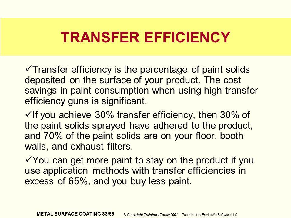 TRANSFER EFFICIENCY