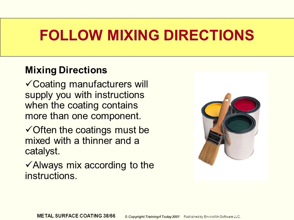 FOLLOW MIXING DIRECTIONS