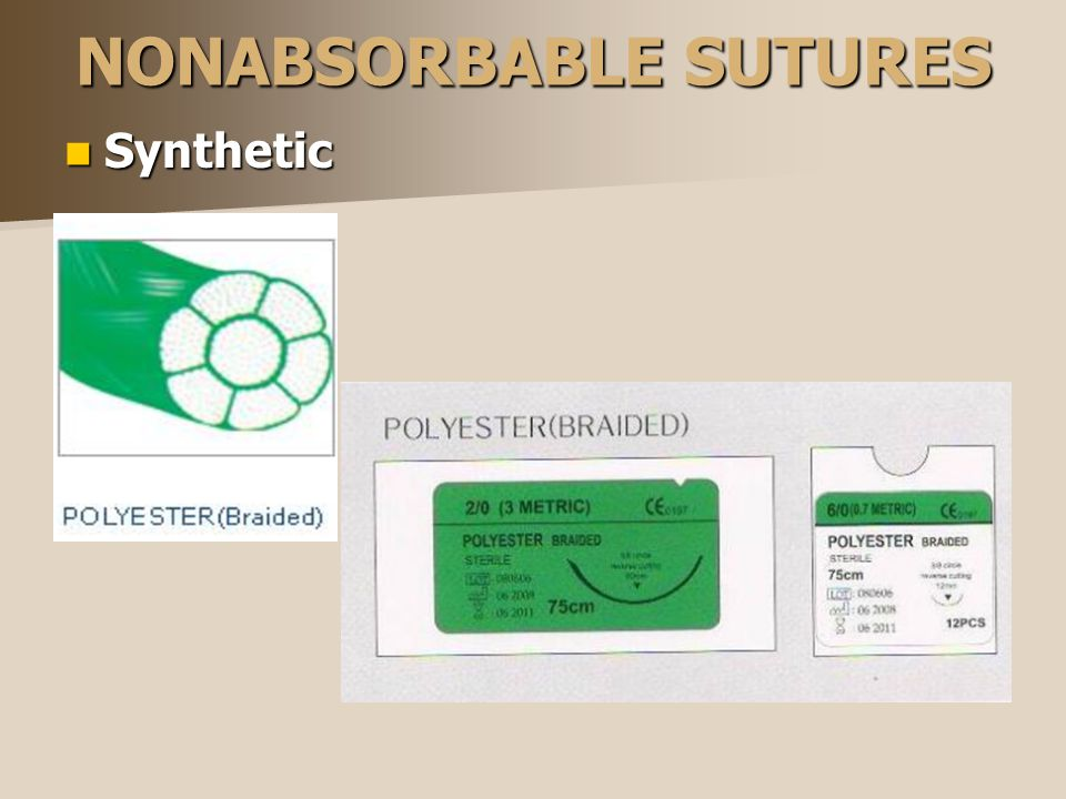 NONABSORBABLE SUTURES