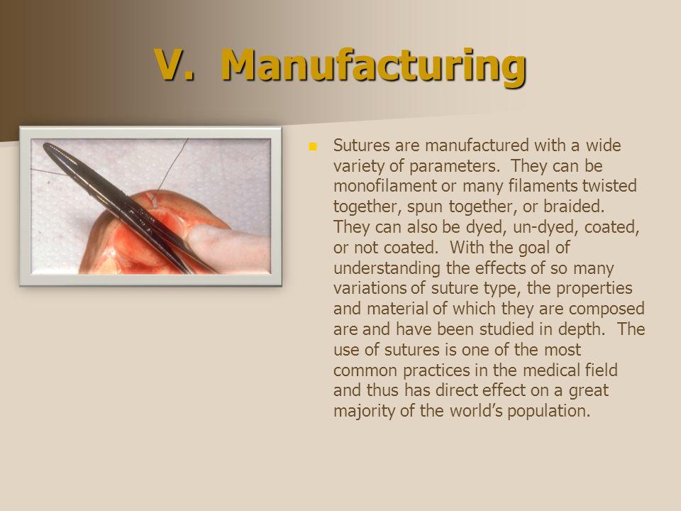 V. Manufacturing